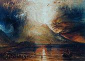 Mount Vesuvius in Eruption, 1817 - Joseph Mallord William Turner - www.william-turner.org