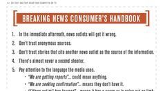 "To help you get through the next big breaking news event, On The Media takes a proactive approach, formulating a guide to sorting ""good information from bad."""