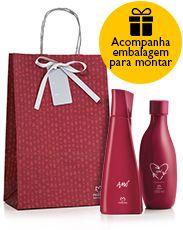 Presente Natura Amó Feminino - Desodorante Colônia + Óleo de Banho + Embalagem