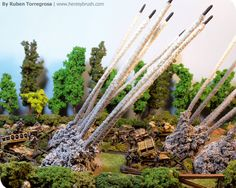 Markers smoke or rockets Flames of War