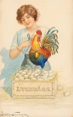 peintre illust jenny nystrom - Page 2 Vintage Ephemera, Vintage Cards, Vintage Postcards, Holiday Postcards, Vintage Pictures, Vintage Images, Decoupage, Rooster Art, Chicken Art