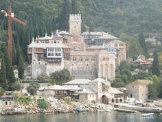 Monastery Pantokratoros - Mount Athos, Greece The Holy Mountain, Cradle Of Civilization, Christian World, Mountain Climbers, Our Lady, Dream Vacations, Greece, Places To Go, Beautiful Places