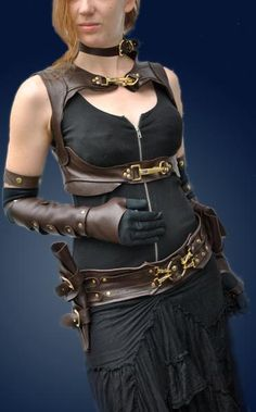 Cool leather harnessing!