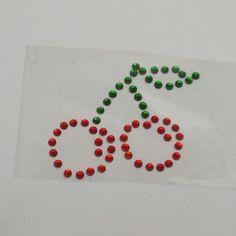 Red Cherries Bling Rhinestone by BlingSparkleShineLtd on Etsy