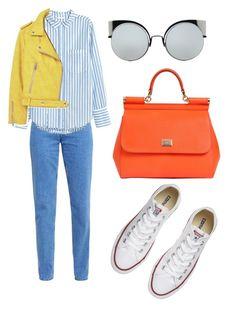 Без названия #271 by lepra on Polyvore featuring polyvore, fashion, style, MANGO, Hilfiger, Converse, Dolce&Gabbana, Fendi and clothing
