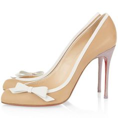 Christian Louboutin Beauty 100 Leather Pumps Beige