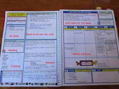Where do people get these really awesome planners with super intricate and specific sections? I love planning everything out perfectly and detailed. Planner Pages, Life Planner, Weekly Planner, Happy Planner, Printable Planner, Arc Planner, 2015 Planner, Planner Tips, Project Planner