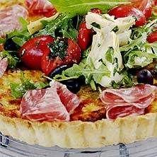 Italiensk paj med salami - tasteline