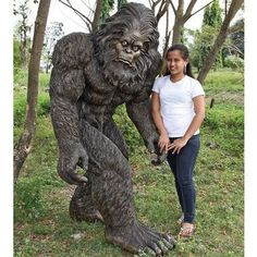 Bigfoot Garden Yeti Life Size Statue  $2,250.00 Availability   In Stock  With His Characteristically Big