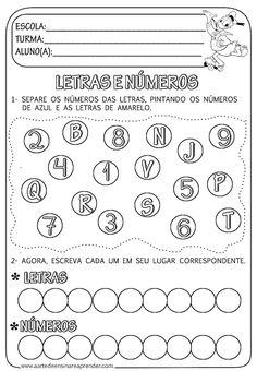 Atividade pronta - Separando Letras e números