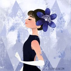 Indigo Audrey Hepburn by Lissy Marlin for #7DaysOfColor