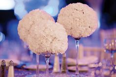 Centerpieces of white carnations designed by Feats Inc. 25 Winter-Themed Party Ideas: Decor, Entertainment, Catering, and Holiday Party Themes, Office Holiday Party, Holiday Parties, Party Ideas, Event Ideas, Carnation Centerpieces, Carnations, Book Centerpieces, Centrepiece Ideas