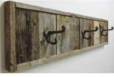 Wall Mounted Reclaimed Barnwood Towel Rack Decorative Farmhouse Bathroom Accessories Wooden Bath towel mulit hook Hanger set Best Picture For bath Barn Wood Decor, Barn Wood Crafts, Barn Wood Projects, Old Barn Wood, Reclaimed Barn Wood, Diy Pallet Projects, Rustic Decor, Barnwood Ideas, Barn Wood Shelves