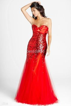 Trumpet Mermaid Sweetheart Floor-Length Tulle Sequined Prom Dress With  Flower(s) 82076f04b