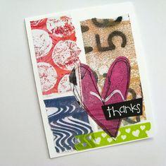 Gelli thank you card