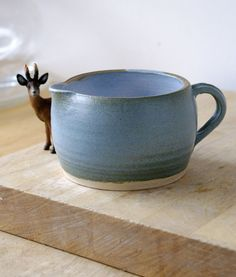 Speckled blue pottery pouring jug  handmade by LittleWrenPottery, £11.00 |Pinned from PinTo for iPad|