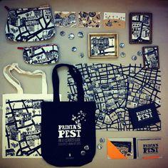 Love this map pattern/print. Printa's pest + pest kollekció