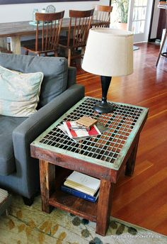 Old Grate Industrial Table