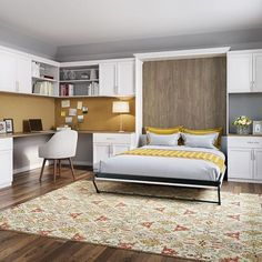 Need more space for your guest or bedroom? California Closets offers a wide range of Murphy Bed, Wall Bed and Storage Bed designed to Edmonton's lifestyle. Murphy Bed Office, Murphy Bed Ikea, Murphy Bed Plans, Murphy Bed With Desk, Guest Bedroom Office, Guest Bedrooms, Spare Room Office, Closet Office, Modern Murphy Beds