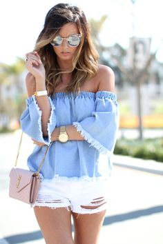 For All Things Lovely: Chambray + Fringe | San Diego, California