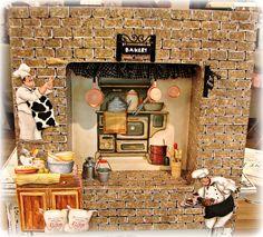 bakery, decoupage and miniature