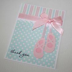 Bailarina tarjetas de agradecimiento por JillyBearDesigns en Etsy
