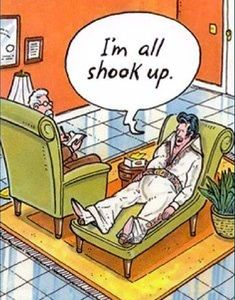Humour Therapy - Enlighten up & live with more health, happiness, meaning… Funny Cartoons, Funny Comics, Funny Jokes, Cartoon Humor, Lame Jokes, Elvis Presley, Mental Health Humor, Social Work Humor, Therapy Humor