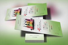 Reggae Jazz Concert Ticket Template by Godserv Graphics on @creativemarket