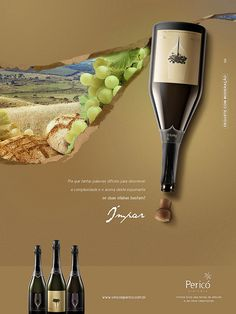 Ímpar - Conceito Vinícola on Behance. I like this ad because it is simple and easy to read. I love the color palette and the way the background rips away to reveal the photo of the winery. There's not too much text and it's small so it doesn't distract from the images. This ad probably looks good both upside down and right side up.