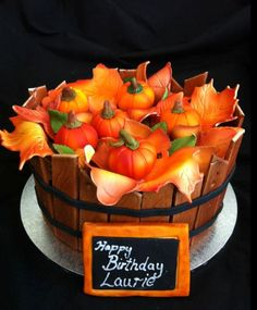 Autumn Cake - Its not my birthday but thanks anyways:) lol