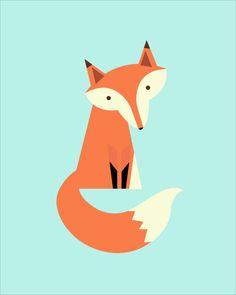 Fox ensemble de 3 imprimable imprimable par CraftMei sur Etsy