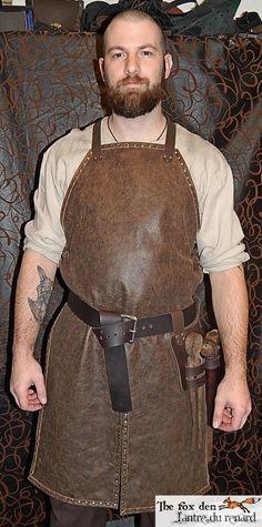 Fabriqu sur commande dans les 7 jours ou moins tablier de forgeron en cuir de haute qualit - Tablier de forgeron ...