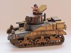 Der erste Stuart M3 Honey aus dem Lend-Lease Abkommen wurde an die 8th Army ausgeliefert (Tank: Blitzkrieg Miniatures, Kommandant: Perry Miniatures).
