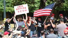 Portland braces itself for violent clashes between right-wing and antifa protesters Portland, Oregon, Self Described, Labor Union, Community Organizing, Blue City, Police Chief, First Novel, Right Wing