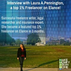 Exclusive Interview with Laura A.Pennington a featured top 1 percent freelancer on Elance.