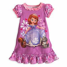 Disney Sofia Nightshirt for Girls | Disney StoreSofia Nightshirt for Girls - She'll dream of the royal life while wearing Sofia's soft nightshirt with puff sleeves and ruffled trims, sleepwear fit for a future princess.