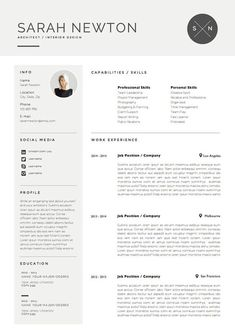 Resume CV Template Cover Letter Design for Word by OddBitsStudio Job Resume Examples, Resume Tips, Resume Cv, Sample Resume, Resume Ideas, Modern Resume Template, Cv Template, Resume Templates, Cv Design