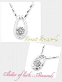 "Cluster of luck in 18K White gold pendant with your lucky 7 diamonds..."" #FinestDiamonds www.finestdiamonds.com.au"