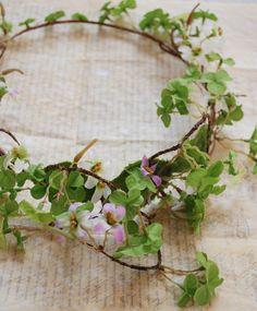 Brianna wild clover hair wreath by gardensofwhimsy on Etsy