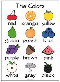 Colors in Irish language Coloring Worksheets For Kindergarten, Kindergarten Colors, English Worksheets For Kids, English Lessons For Kids, Math Worksheets, Irish Language, German Language Learning, Teaching English, French Language