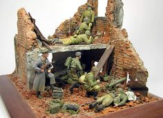 In the ruins of Stalingrad | Dioramas and Vignettes | Gallery on Diorama.ru