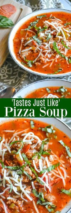 Calling all pizza lovers! Don't have dough or the time to make it, but craving a good supreme pizza for dinner? With all your favorite toppings, and the convenience of being made all in one pot-- 'Tastes Just Like' Pizza Soup is the hearty meal that fits the bill.
