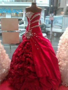 Bashing Red Silver Glitz Wedding Dress Formal Gown Colored Dresses Special