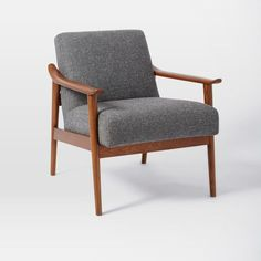 Mid-Century Show Wood Upholstered Chair | west elm-Harpster Bend Living Room