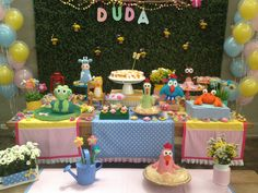 Festa galinha pintadinha - decoração mini mimo festas