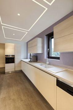 Photo: TruQuad adds some artful illumination to this modern kitchen #lights  #LEDs  #design  #decor http://bit.ly/1SPA1Hg