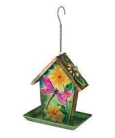 Look at this #zulilyfind! Dragonfly Solar Lantern Birdfeeder #zulilyfinds