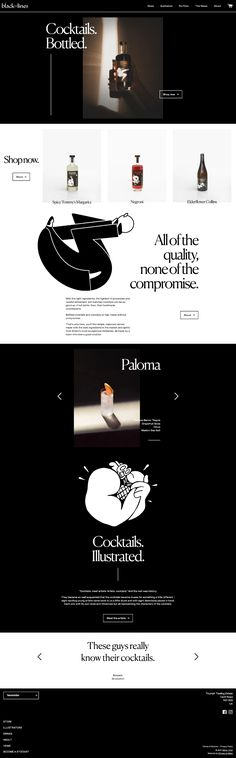 Black Lines landing page design inspiration - Lapa Ninja Landing Page Design, Cocktail Making, Original Music, Ninja, Cool Designs, Web Design, Cocktails, Design Inspiration, Ecommerce