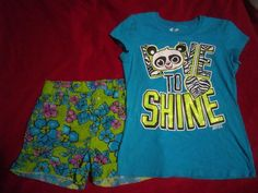 Justice T-Shirt & Childrens Place Shorts Girls Size 10 Outfit Girls Size 10 #JusticeCHildrensPlace