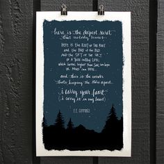 I Carry Your Heart  E.E. Cummings Poem Art by An Open Sketchbook | Perfect Wedding Present or Anniversary Gift, $24.00